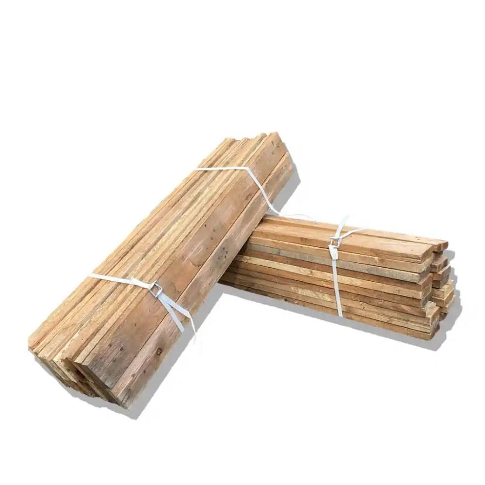 Lot 20 planches en bois de palette - 120 cm - Largeur 9 cm