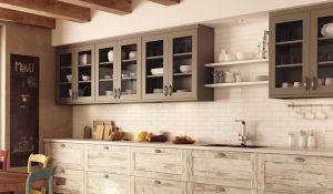 vieilles armoires de cuisine
