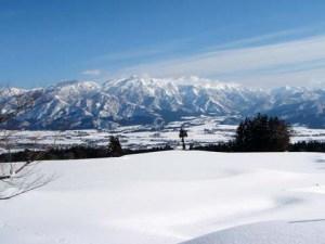 イロハ田んぼ付近です。冬期は雪で通れなくなります。