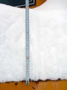 この4日で30㎝ほど雪が積もっていました。