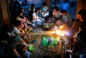 Local foods, like taro, bread fruit and fishes filled the dinner table every day.