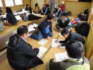 2日目午後の意見交換では、参加者と清水の人たちが3つのグループに分かれて、具体的なアイデアを出し合いました。