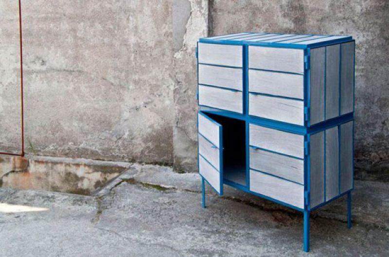 madera, diario, reciclado, mueble, kranthout