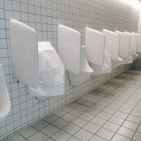 urinal covers in situ