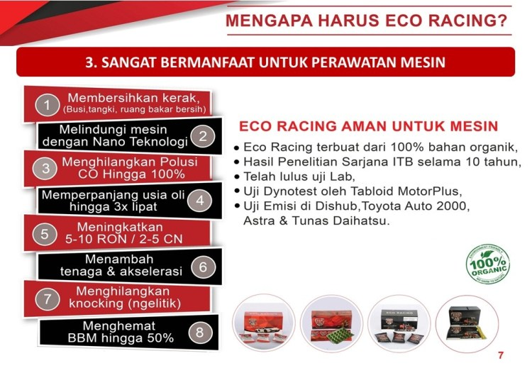 eco racing pengirit bensin viral di indonesia
