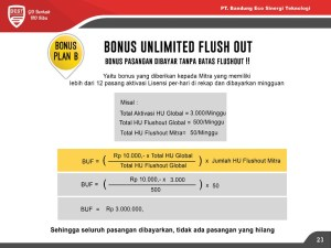 Bonus Unlimited Flush Out eco racing