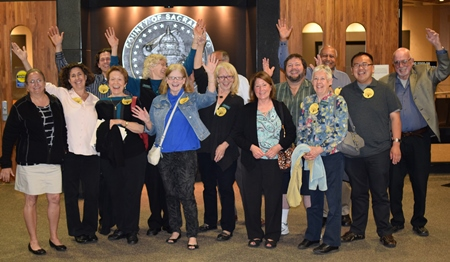 Future Residents of Fair Oaks EcoHousing celebrating approval by Sacramento County in April 2015