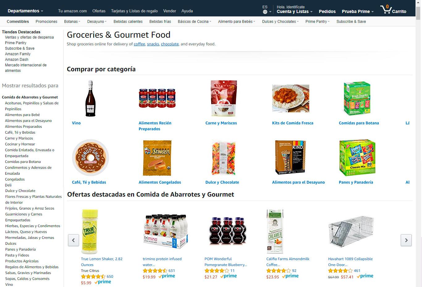 Mercado en Amazon