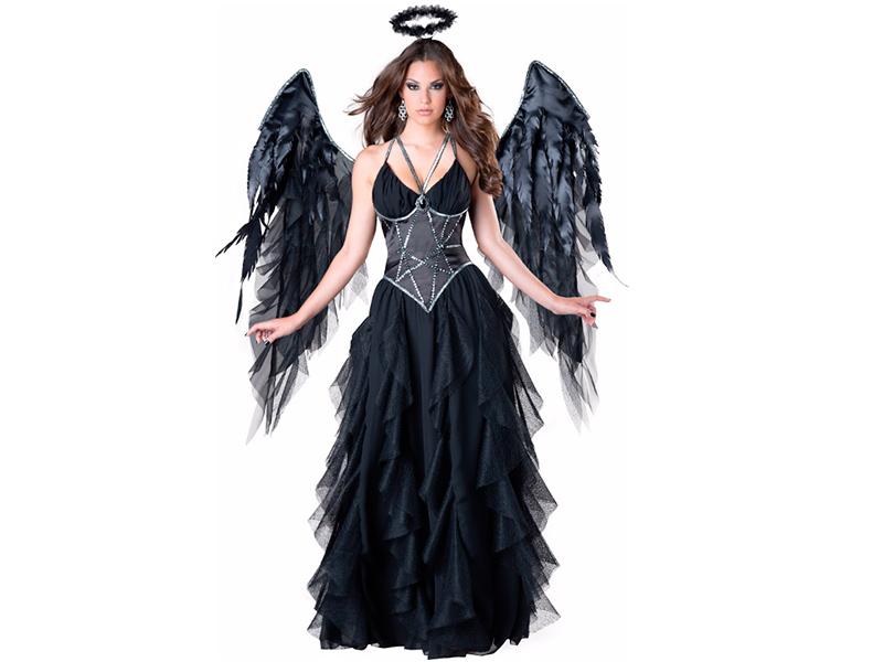 Disfraces de Halloween - Angel negro