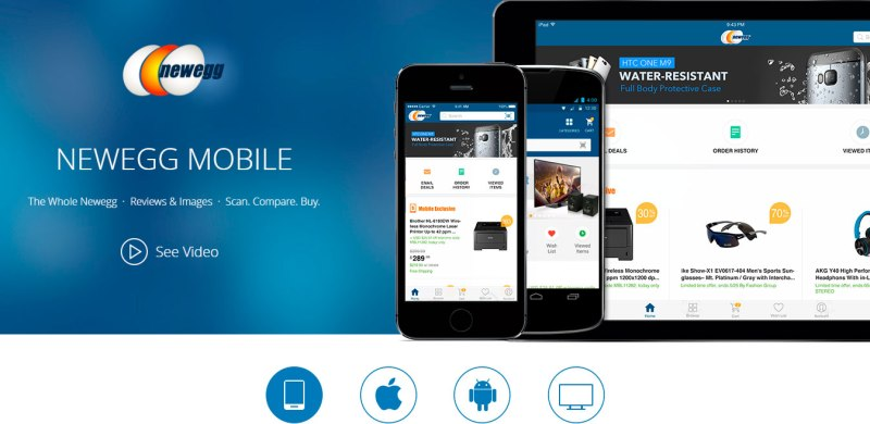 newegg - Apps para obtener descuentos