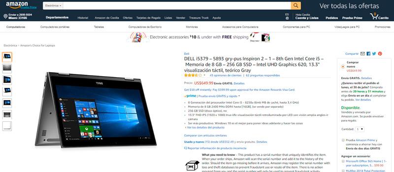 Una nueva laptop para celebrar su graduación - Dell-i5379
