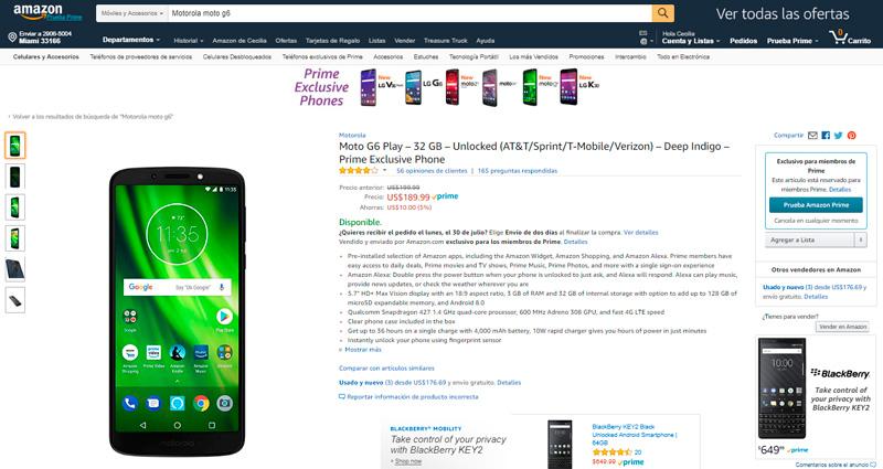 Un nuevo celular como regalo de graduación - Moto-G6