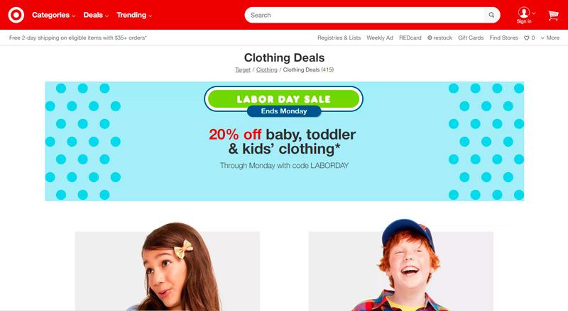 Ofertas de Labor Day en Target