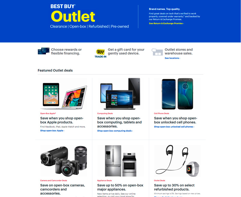 Ofertas de outlet de Best Buy