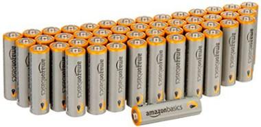 Baterías alcalinas AA de AmazonBasics, Paquete de 48