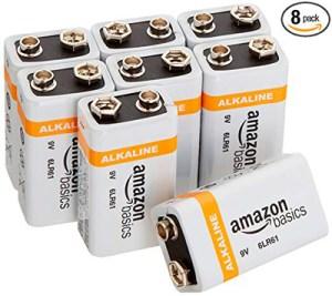 Baterías alcalinas AmazonBasics de 9 voltios