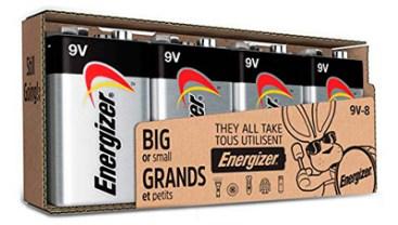 Energizer Max, paquete de 4 pilas alcalinas de 9 V