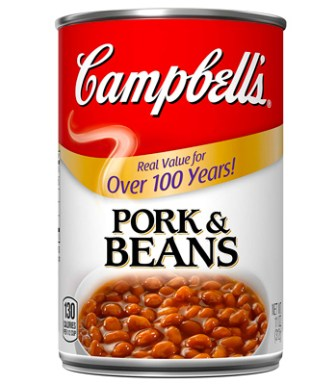 Campbell's Canned Beans, Pork & Beans, 11 oz. Can (24 und)