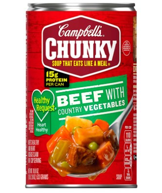 Campbell's Chunky Healthy Request Beef with Country Vegetables Soup, 18.8 oz. (12 und)