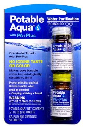 Tabletas purificadoras de agua, Potable Aqua Water (50 Tab)