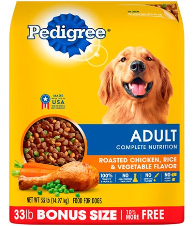 Alimento comercial para perros Pedigree Adulto