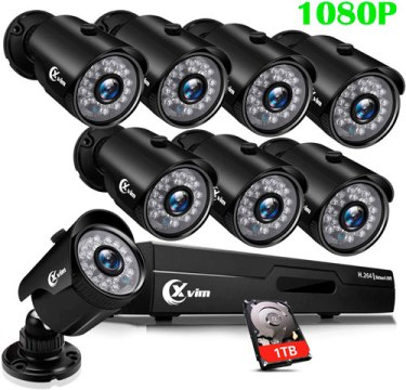 Sistema de cámaras de seguridad XVIM 1080N con 8 cámaras