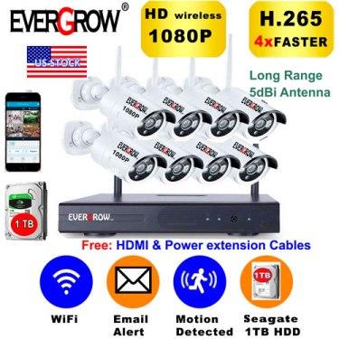 Sistema de cámaras de seguridad para el hogar 8CH 1080P NVR