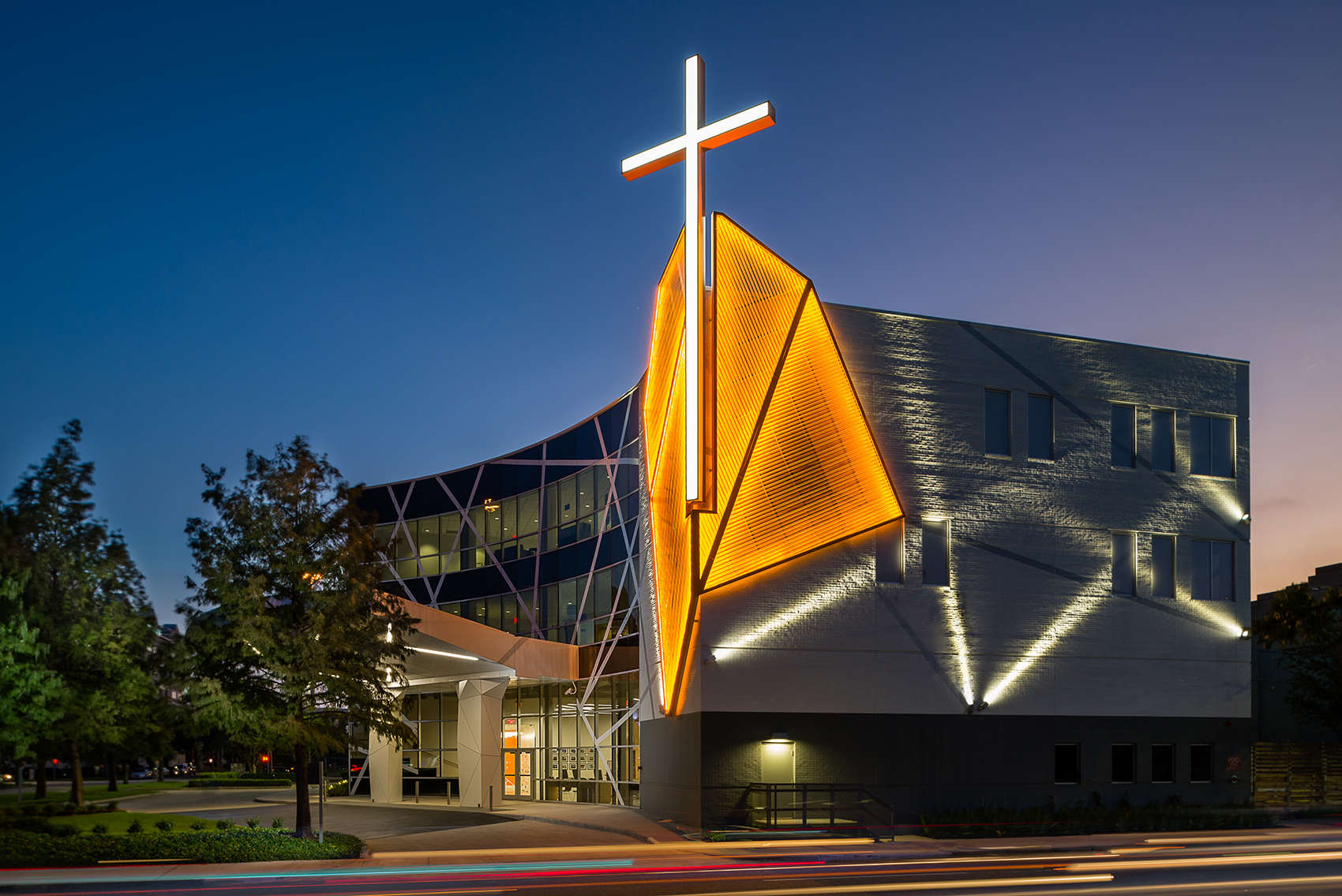Houston S First Baptist Church Ecosense Lighting