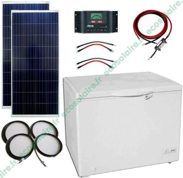 ECO-E15207A - Kit congélateur solaire 200L 12V sans batterie
