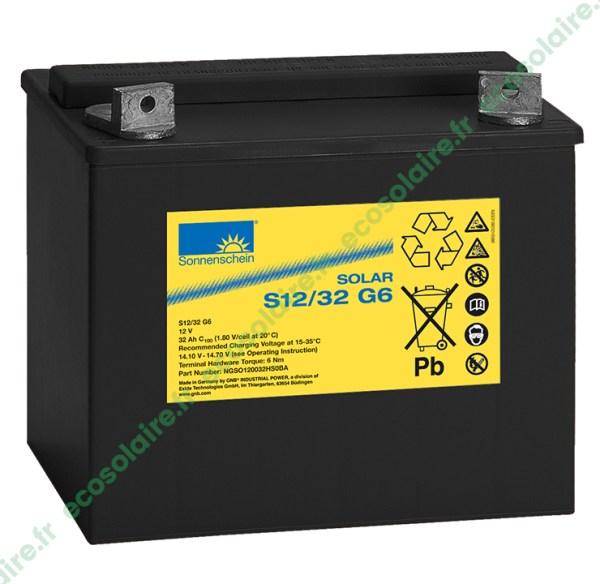 Batterie Sonnenschein Solar S12/32