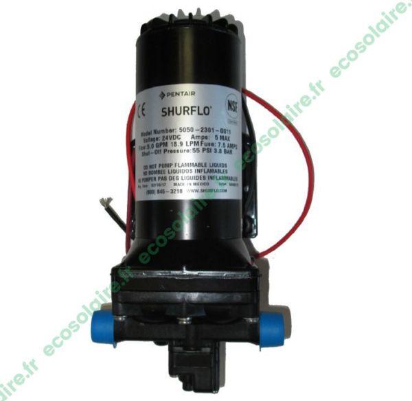 Pompe de surface SHURFLO 5050-2301-G011 24V; pompe de surface 5050 24V