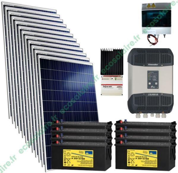 kit autonome solaire 3420W 230V