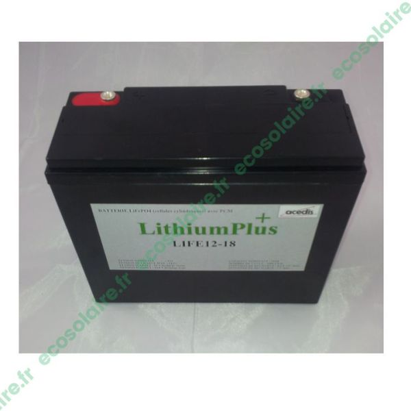 Batterie Lithium LiFePO4 LIFE12-18