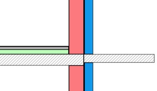 isolamento termico - ponte termico balcone prima dell'intervento