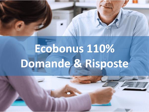 Ecobonus 110% - domande e risposte