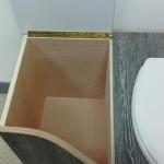 toilette sèche compartiment gauche