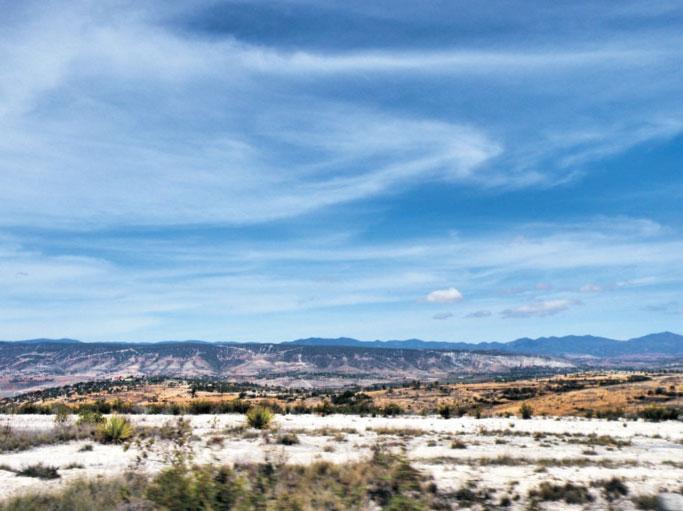 Deforestation and erosion make the Mixtec Highland look like a desert