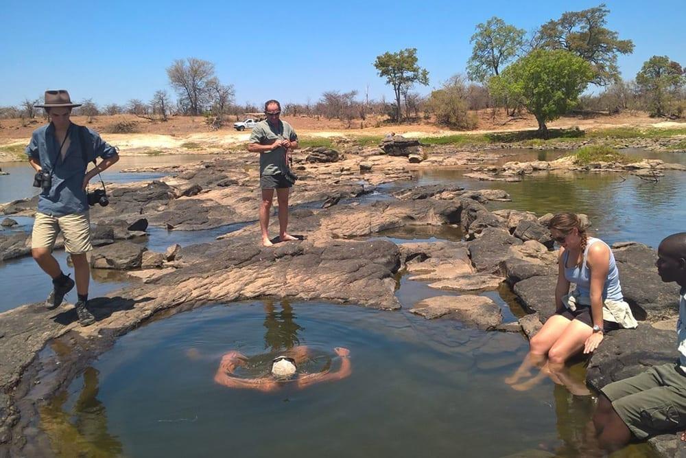 Stanley Livingstone Camp Victoria Falls Zimbabwe EcoTraining Swim