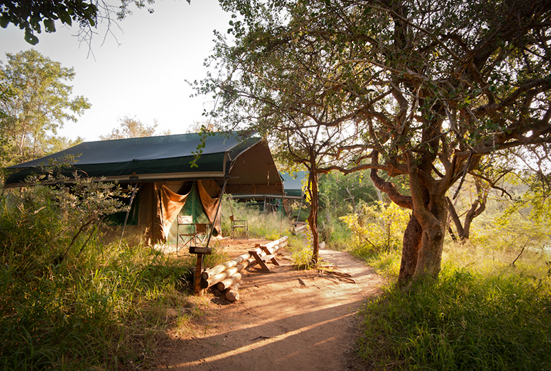 Karongwe Game Reserve, South Africa - Meru style tent from outside