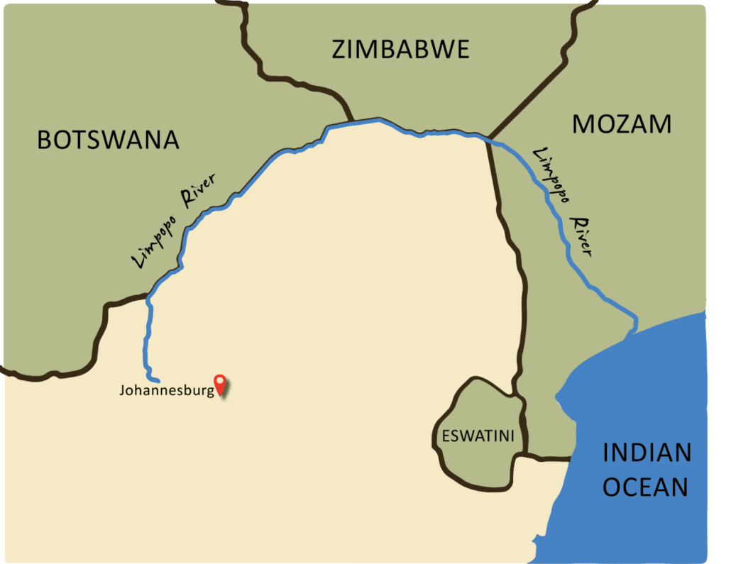 Map of Limpop River
