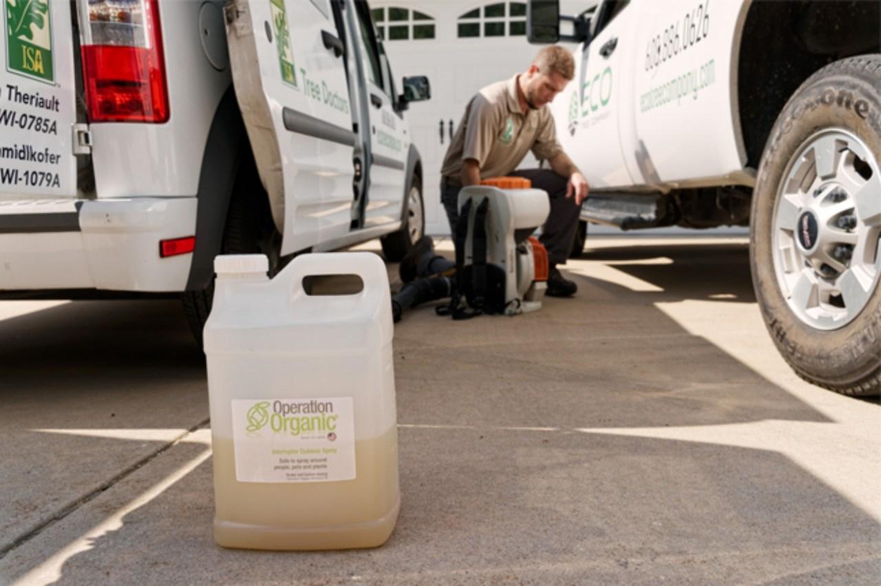 Operation Organic mosquito spray treatment