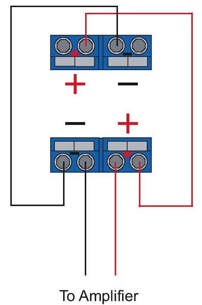 wiring 1 dual 4 ohm vc sub to 2 channel amp  ecoustics