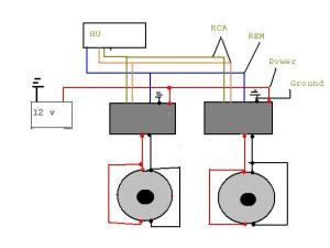 How do i wire two amps to two separate subs  ecoustics