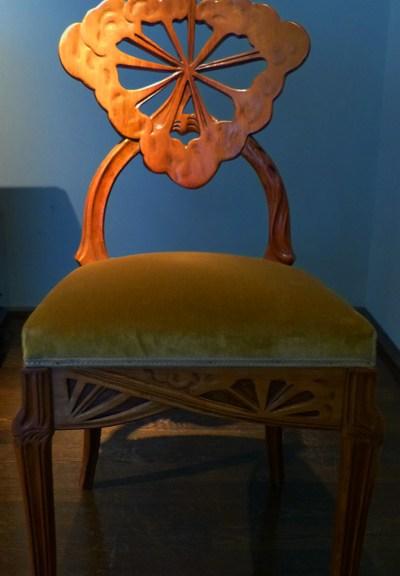 chaise aux ombelles emile galle nancy art nouveau ecoutelebois