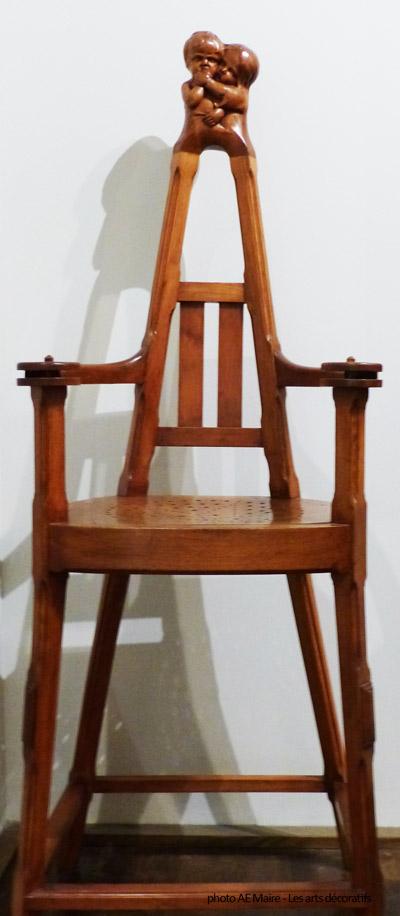 chaise-haute enfant art-nouveau musee-arts-décoratifs-paris ecoutelebois