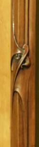 détail décoration mobilier art-nouveau ecoutelebois