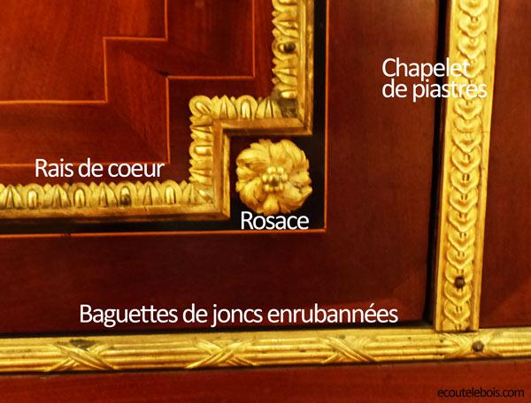 Eléments décoratifs Louis XVI ecoutelebois
