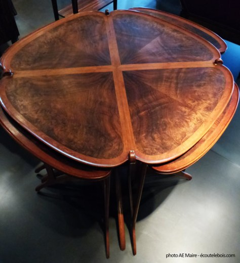 eugene gaillard table à thé gigogne 1913 palissandre ecoutelebois
