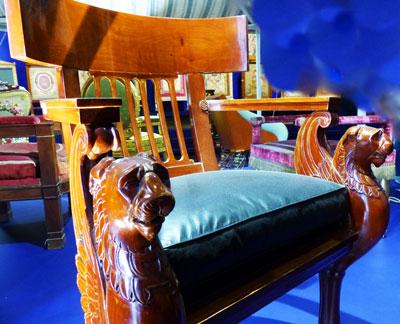 fauteuil Empire Gobelins ecoutelebois