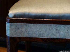 galuchat palissandre ivoire chaise clement rousseau art-deco ecoutelebois